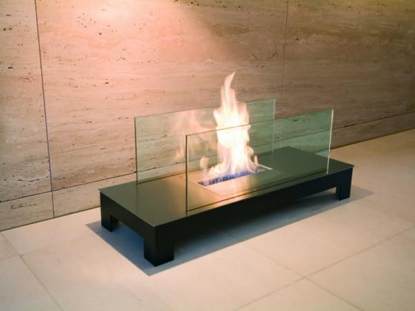 Ethanolkamin Floor Flame Edelstahl