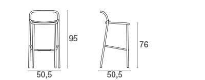emu Outdoor Barhocker Yard (stapelbar) - Maße
