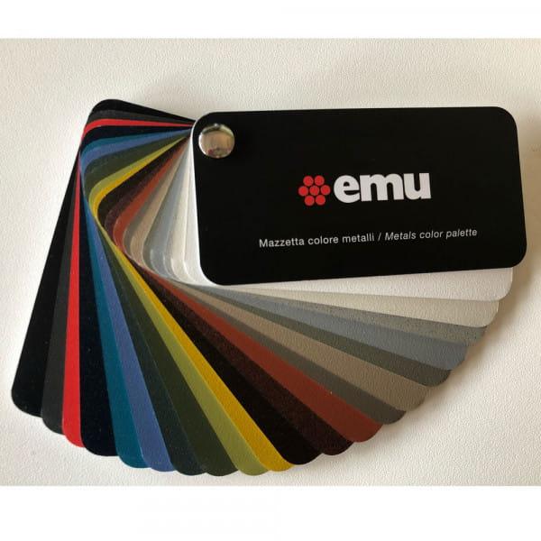 emu Muster-Farbkarte Metall