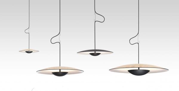 Pendelleuchte LED Ginger Eiche-Weiß und Wenge-Weiß Vergleich