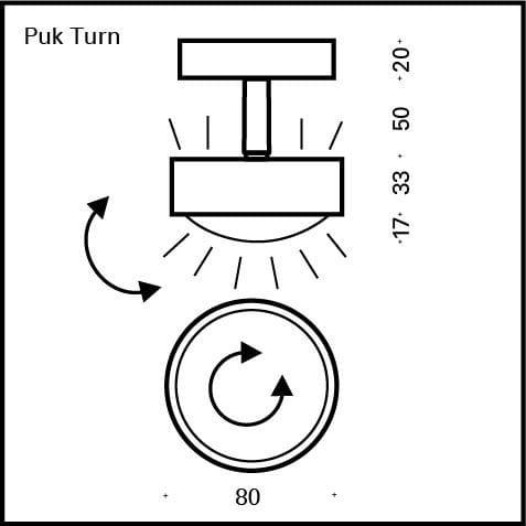 Deckenleuchte Puk Turn G9