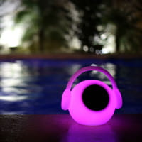 Tragbarer Bluetooth Lautsprecher mit LED Außenleuchte