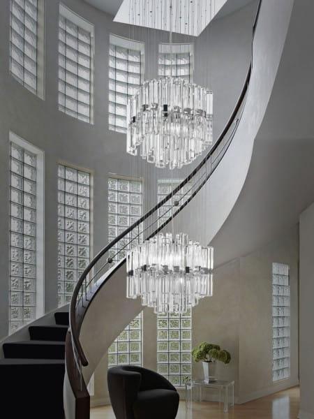 Exklusive Kristall Etagen-Pendelleuchte für Galerie Micron Milady