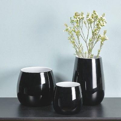 Vase Pisano von Lambert verschiedene Größen - Schwarz