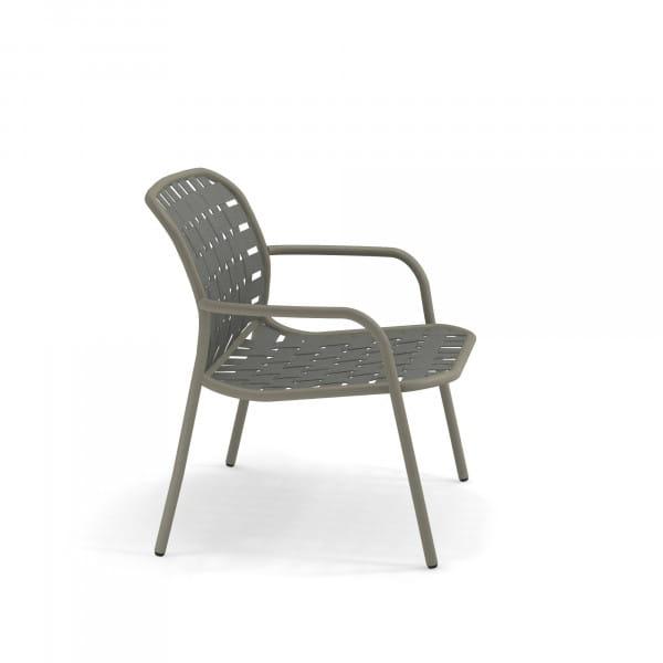 emu Outdoor Loungesessel Yard (stapelbar) - 37-64 Hellgrau - Grau/Grün