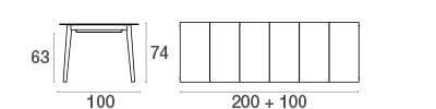 emu Outdoor-Esstisch Kira (ausziehbar) - Maße