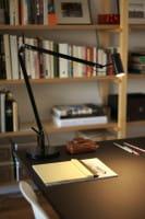 marset Tischleuchte Polo schwarz Ambiente Schreibtisch