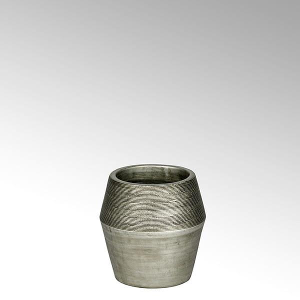 Lambert Gefäß Kamara Keramik silber H34cm D27cm