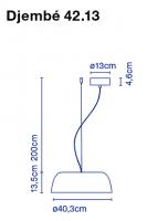 marset Pendelleuchte LED Djembe Maße 42.13