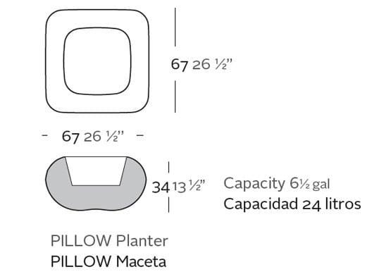 Beleuchtetes Pflanzgefäß Pillow