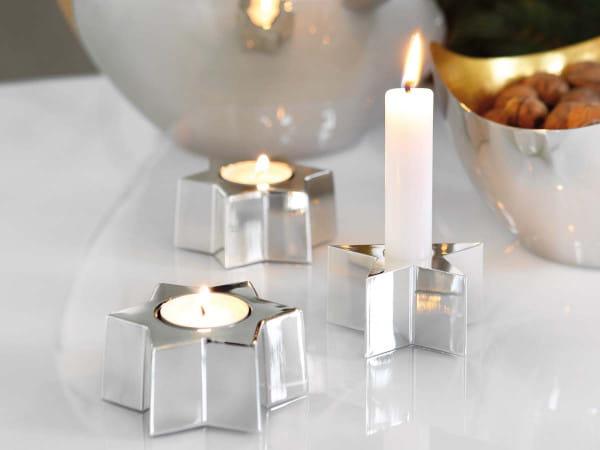 Kerzenhalter Astro versilbert - 5-zackig - Ausstellungsstück