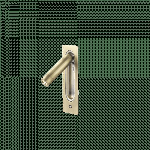marset Wandleuchte Ledtube RSC USB Bronze cut-out