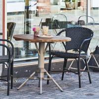 Sika Design Bistrotisch Nicole Teak Tischplatte Durchmessr 80cm taupe