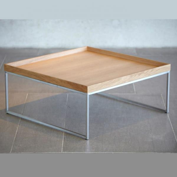 Jan Kurtz Couchtisch Pizzo 80 x 80 cm abnehmbares Tablett