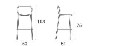 emu Darwin Barhocker - Maße
