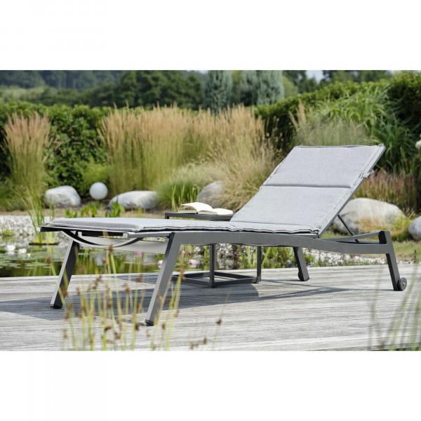 Stern Sonnenliege Allround - Graphit / Silbergrau, Ambiente
