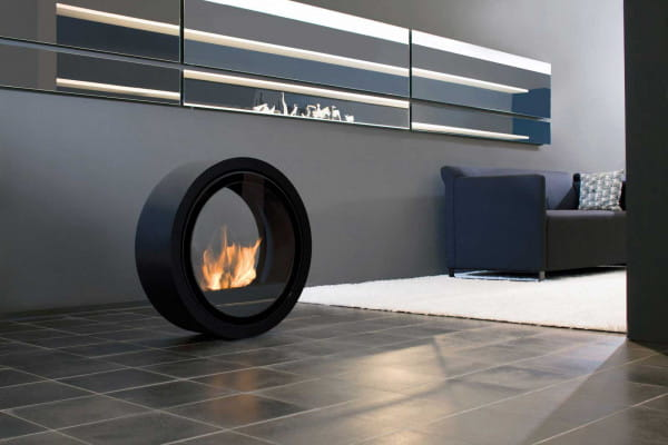 conmoto Ethanol-Kamin Roll Fire schwarz Design