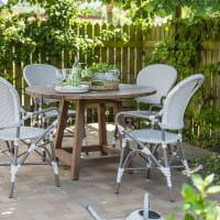 Sika Design Georgia Garden Esstisch George rund - recyceltes Teakholz
