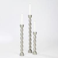 Lambert Kerzenleuchter Brancusi Metall gebürstet - 3 Größen