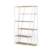 Temahome Bücherregal Albi - Eiche / Weiß, seitlich