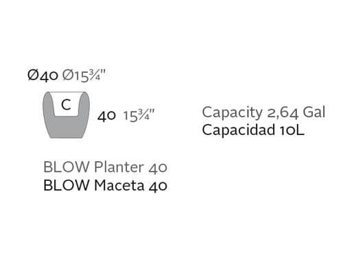Beleuchtetes Pflanzgefäß Blow - 40 cm