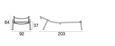 emu Outdoor Liege Terramare (stapelbar) - Maße