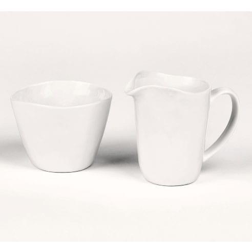 Lambert Milchkanne mit Zuckerschale Piana Weiß