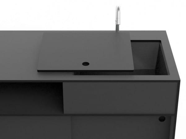 conmoto Outdoor Küche mit Spüle Anthrazit | TICINO Kitchen Water