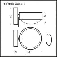 Wandleuchte Puk Maxx Wall Plus G9