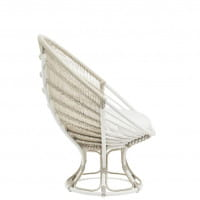 Sika Design Exterior Liegestuhl Luna aus Alu Rattan Dove White