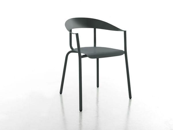 Outdoor Stuhl mit Armlehne Alu Mito