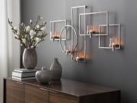 Fink Living Escala - Wanddekoration mit Glas, 5-flammig - Ambiente