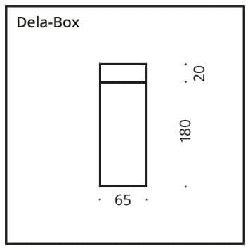 Deckenleuchte DELA Box chrom E27 - Ausstellungsstück