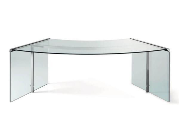 Glas-Schreibtisch President Senior