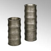 Lambert Gefäß Cobano Keramik silber H72cm D24cm