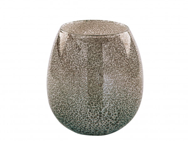 Fink Living Vase/Windlicht Silva - Grau, 22,5 cm hoch