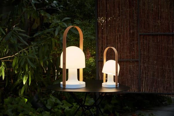 marset Tischleuchte LED FollowMe Ambiente Vergleich Größen Garten