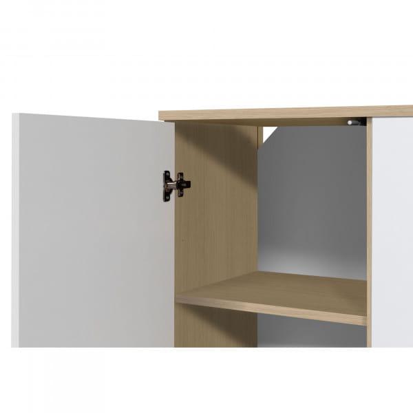 Temahome Sideboard Albi - Eiche / Weiß, Türdetail