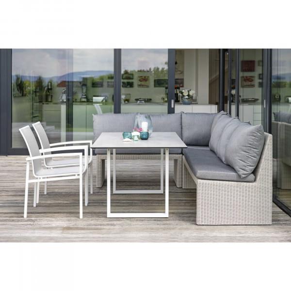 Stern 2-Sitzer-Bank Noel - Vintage Weiß / Seidengrau, Ambiente