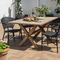 Sika Design Georgia Garden Esstisch Kolonial - recyceltes Teakholz