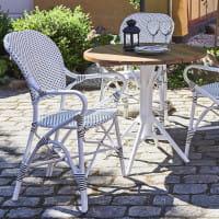 Sika Design Bistrotisch Nicole Teak Tischplatte Durchmessr 80cm