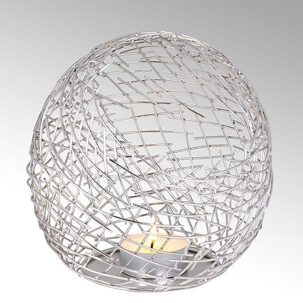 Lambert Windlicht Micado Silber - Durchmesser 21 cm