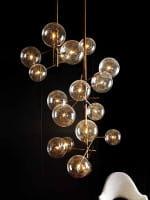 Pendelleuchte Bolle 6 Kugeln LED