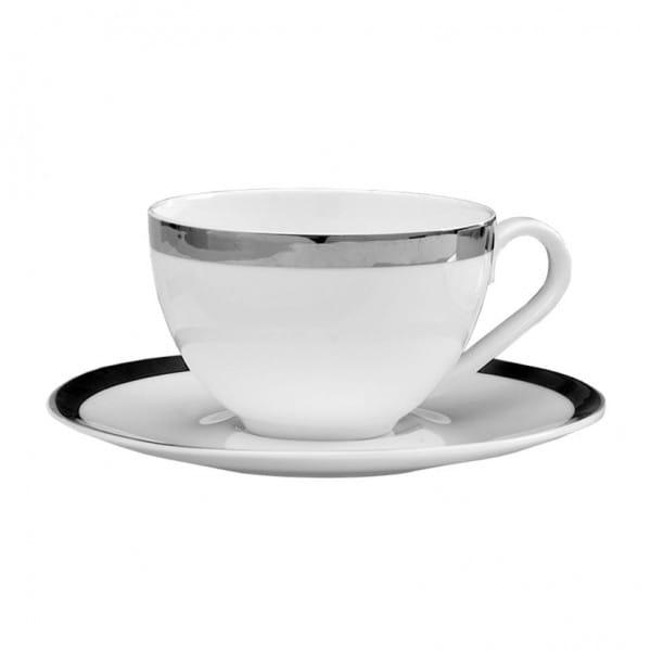 Fink Living Kaffeetasse Platinum mit Unterteller