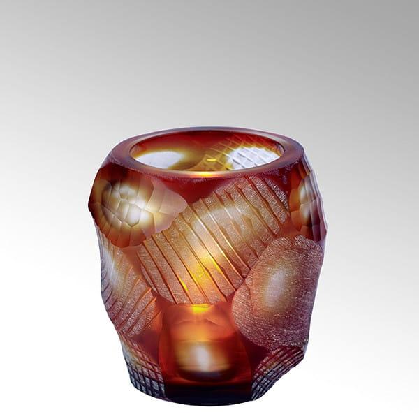 Teelicht Silvestro von Lambert Rot - Höhe 8 cm