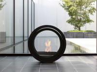 conmoto Ethanol-Kamin Roll Fire schwarz rollbar