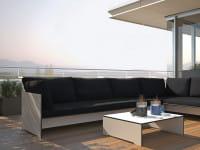 Conmoto Outdoor Lounge Riva - Kombination A Weiß Schwarz