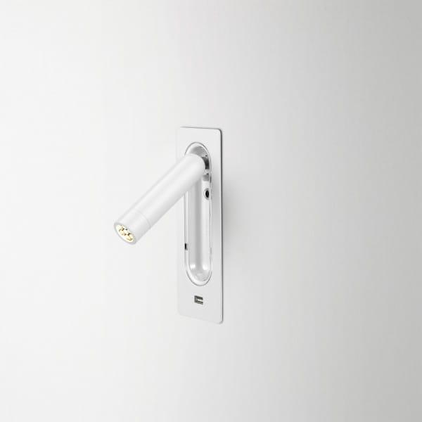 marset Wandleuchte Ledtube RSC USB Weiß installiert