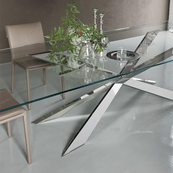 Glas-Esstisch Spyder - quadratisch