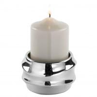 Fink Living Stumpenkerzenhalter Fabia - Silber mit Kerze